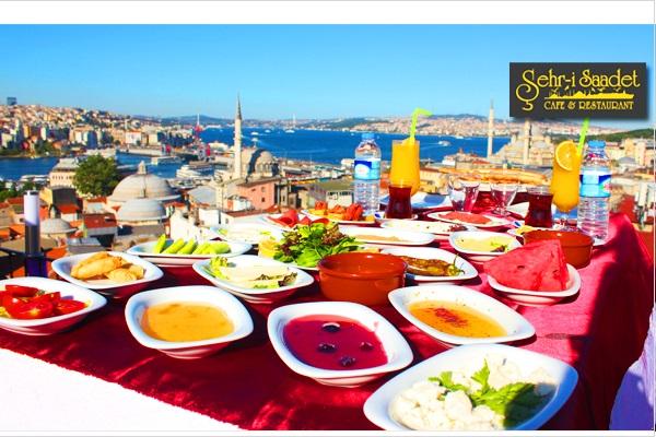 Süleymaniye Şehr-i Saadet Cafe'de İstanbul manzarasına nazır serpme kahvaltı 22,90 TL! Fırsatın geçerlilik tarihi için DETAYLAR bölümünü inceleyiniz.