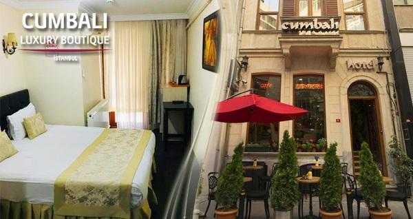 Şişli Cumbalı Luxury Boutique Hotel'de  kahvaltı dahil çift kişilik 1 gece konaklama 320 TL yerine 249 TL! Fırsatın geçerlilik tarihi için, DETAYLAR bölümünü inceleyiniz.