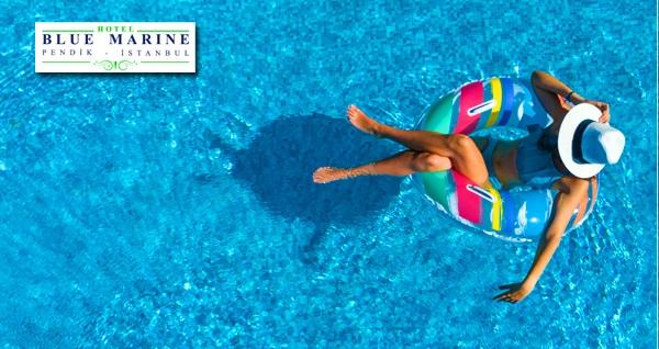 Pendik Blue Marin Hotel'de tüm gün açık havuz kullanımı 60 TL yerine 39 TL! Fırsatın geçerlilik tarihi için DETAYLAR bölümünü inceleyiniz.