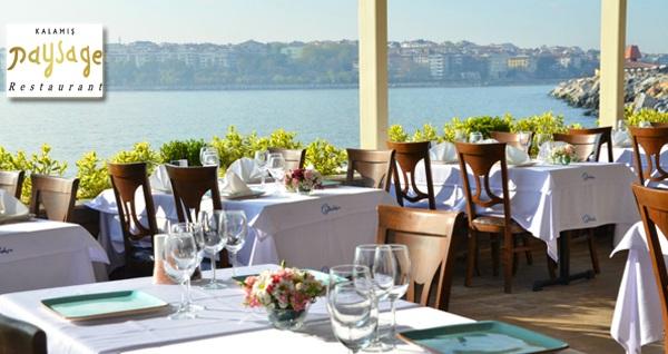 Kalamış Paysage Restaurant'ta eşsiz deniz manzarası eşliğinde serpme kahvaltı keyfi (kişi başı) 59,90 TL! Fırsatın geçerlilik tarihi için, DETAYLAR bölümünü inceleyiniz.