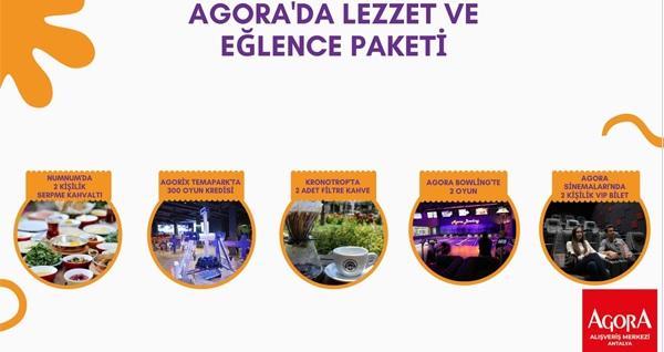 Agora'da lezzet ve eğlence paketi 565 TL yerine 399 TL! Fırsatın geçerlilik tarihi için DETAYLAR bölümünü inceleyiniz.