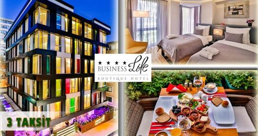 Şişli Business Life Boutique Hotel'de kahvaltı dahil çift kişilik 1 gece konaklama keyfi 200 TL yerine 119 TL! 30 Aralık 2016 tarihine kadar, haftanın her günü geçerlidir.