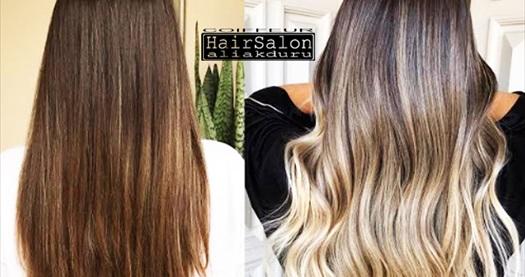 Hair Salon Ali Akduru'da ışıl ışıl profesyonel ombre uygulaması ve saç bakımı 350 TL yerine 129 TL! Fırsatın geçerlilik tarihi için DETAYLAR bölümünü inceleyiniz.