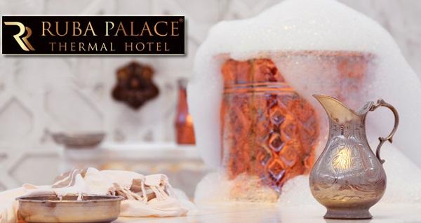 Osmangazi Ruba Palace Thermal Hotel'de VIP aile hamamı kullanımı ve sıcak içecek ikramı 120 TL yerine 79,90 TL! Fırsatın geçerlilik tarihi için, DETAYLAR bölümünü inceleyiniz.