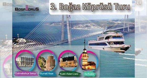 Bosphorus Organization'dan açık büfe öğle yemeği eşliğinde ''3.Boğaz Köprüsü Gezisi'' kişi başı 99 TL! Fırsatın geçerlilik tarihi için DETAYLAR bölümünü inceleyiniz.