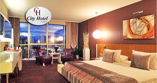 Çankaya'nın seçkin adresi City Hotel Ankara'da kahvaltı dahil çift kişilik 1 gece konaklama ve spa keyfi 320 TL yerine 169 TL! Fırsatın geçerlilik tarihi için DETAYLAR bölümünü inceleyiniz.
