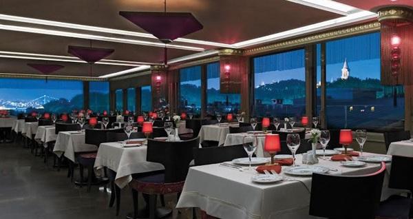 Tarihi Galata ve Boğaz manzarasına nazır Olive Restaurant'ta zengin iftar menüsü 139 TL! Bu fırsat 6 Mayıs - 3 Haziran 2019 tarihleri arasında, iftar saatinde geçerlidir.
