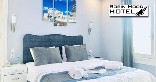 Beykoz Robin Hood Hotel'de çift kişilik 1 gece kahvaltı dahil konaklama 279 TL! Fırsatın geçerlilik tarihi için DETAYLAR bölümünü inceleyiniz.