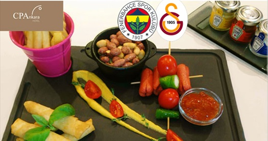 CP Ankara'da Fenerbahçe-Galatasaray maçı eşliğinde enfes menü kişi başı 65 TL yerine 34,50 TL! 23 Şubat 2020 / 19.00 / CP Ankara Hotel