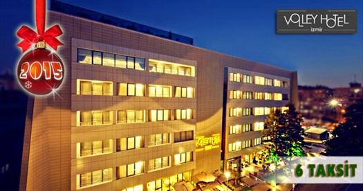 Alsancak Volley Hotel İzmir'de kahvaltı dahil çift kişilik 1 gece konaklama ve YILBAŞI GALASI 525 TL yerine 390 TL! Yılbaşına ÖZEL; 31 Aralık 2014 tarihinde gala yemekli konaklamalarda geçerlidir.