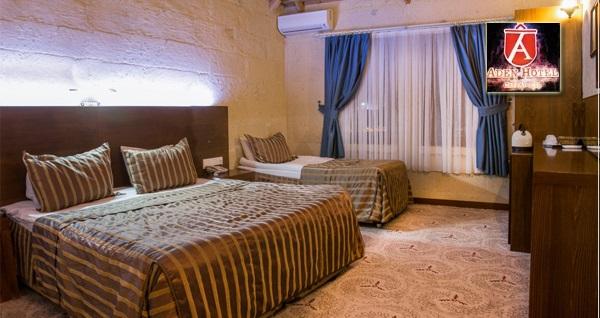 Uçhisar Aden Hotel Cappadocia'da kahvaltı dahil çift kişilik 1 gece konaklama 279 TL! Fırsatın geçerlilik tarihi için DETAYLAR bölümünü inceleyiniz.