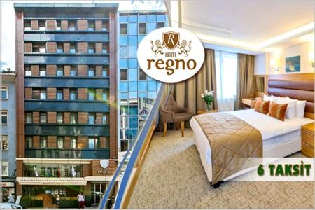 Şişli Regno Hotel'de kahvaltı dahil çift kişilik 1 gece konaklama keyfi 258 TL yerine 169 TL! 15 Eylül 2014 tarihine kadar, haftanın her günü geçerlidir. Fırsata; standart odada çift kişilik 1 gece konaklama ve kahvaltı dahildir.