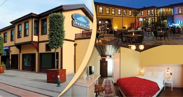 Bursa İpekyolu Butik Hotel'de kahvaltı dahil çift kişilik 1 gece konaklama 179 TL! Fırsatın geçerlilik tarihi için DETAYLAR bölümünü inceleyiniz.