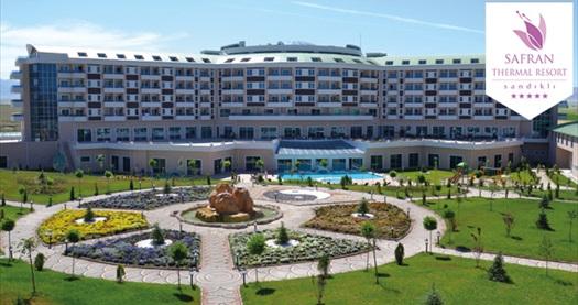 Termalin incisi 5 yıldızlı Safran Thermal Resort Sandıklı'da çift kişilik 1 gece YARIM PANSİYON konaklama 310 TL yerine 218 TL! Fırsatın geçerlilik tarihi için, DETAYLAR bölümünü inceleyiniz.