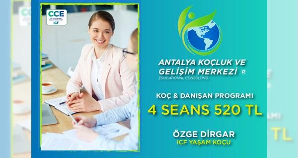 Antalya Koçluk ve Gelişim Merkezi'nde ilişki, öğrenci, bireysel koçluk ve gelişim danışmanlığı 4 seans 520 TL! Fırsatın geçerlilik tarihi için DETAYLAR bölümünü inceleyiniz.