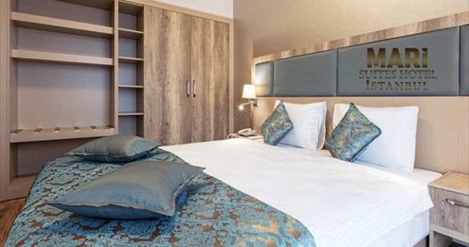 Şişli Mari Suites Hotel'de kahvaltı dahil çift kişilik 1 gece konaklama 219 TL! Fırsatın geçerlilik tarihi için, DETAYLAR bölümünü inceleyiniz.