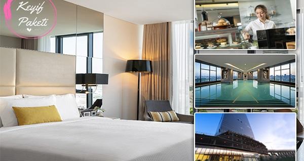 Centro WestSide İstanbul by Rotana Hotel'de 2 kişilik konaklama, odaya özel menü kahvaltı servisi ve spa kullanımı dahil keyif paketi 450 TL yerine 369 TL! Fırsatın geçerlilik tarihi için DETAYLAR bölümünü inceleyiniz.