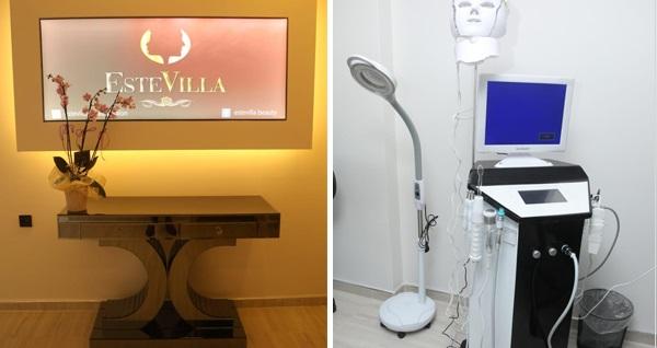 Karşıyaka Estevilla Beauty Salon'da buz başlıklı cihaz ile seçeceğiniz 1 bölge için geçerli 5 seans istenmeyen tüylerden kurtulma uygulaması 750 TL yerine 49,90 TL! Fırsatın geçerlilik tarihi için, DETAYLAR bölümünü inceleyiniz.