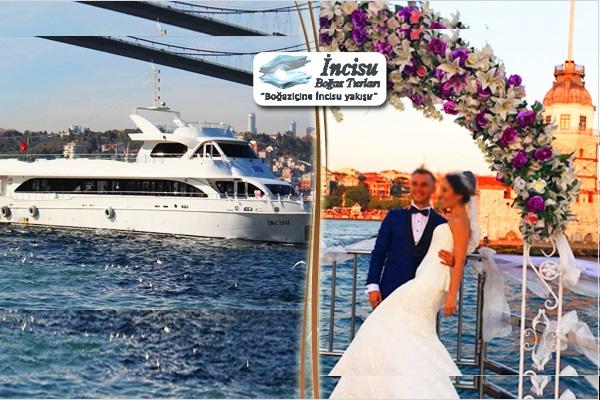 Düğün, nişan, mezuniyet, şirket yemekleri için İncisu Tekneleri ile Boğaz turu! Fırsatın geçerlilik tarihi için DETAYLAR bölümünü inceleyiniz.