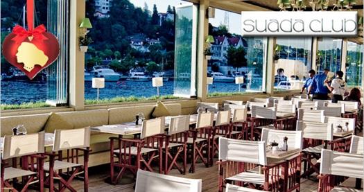 Boğaz'ın ortasında keyifli bir hafta sonu sabahı! Suada Club'da serpme kahvaltı keyfi 70 TL yerine 38 TL! ANNELER GÜNÜ DAHİL ÖZEL GÜNLER HARİÇ; 31.07.2016 tarihine kadar, Cumartesi ve Pazar günleri 10.00 – 13.30 saatleri arasında geçerlidir.