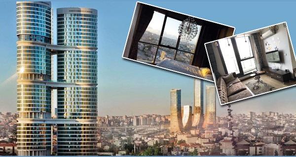 Ataşehir Dumankaya İkon Tower Konaklama'da eşsiz manzara eşliğinde VIP Residence konaklama keyfi
