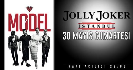 Jolly Joker İstanbul sahnesinde 30 Mayıs'taki Model konserine biletler 56,50 TL yerine 33,90 TL! Konser 30 Mayıs Cumartesi akşamı Jolly Joker İstanbul sahnesinde gerçekleşecektir.