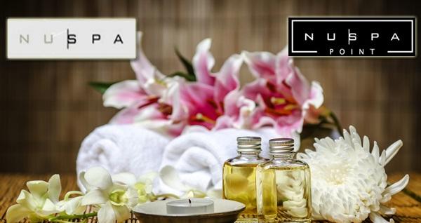 Nuspa'nın 3 şubesi ve Nuspa'nın yeni markası Nuspa Point'in CKM, Suadiye ve Emaar şubelerinde geçerli 50 dakikalık masaj seçenekleri! Fırsatın geçerlilik tarihi için DETAYLAR bölümünü inceleyiniz.