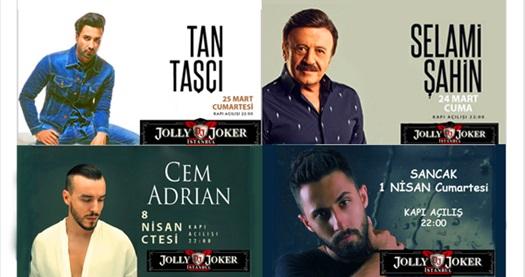 """Jolly Joker İstanbul Sahnesi'ndeki Mart ve Nisan konserleri 39,90 TL'den başlayan fiyatlarla! Konser seçimi yapmak için """"HEMEN AL"""" butonuna tıklayınız."""