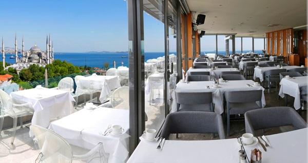 Fine Dine İstanbul Restaurant'ta muhteşem manzaraya nazır serpme kahvaltı menüsü 50 TL! Fırsatın geçerlilik tarihi için DETAYLAR bölümünü inceleyiniz.