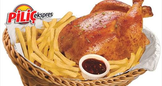 """FSM ve Özlüce Piliç Ekspres'te patates kızartması ve 1 litre koladan oluşan ağızlara layık """"Tam Tavuk"""" menüsü 19 TL yerine 10,90 TL! 7 Ekim 2013 tarihine kadar; paket servis, gel-al ve FSM ile Özlüce Piliç Ekspres şubelerinde geçerlidir."""