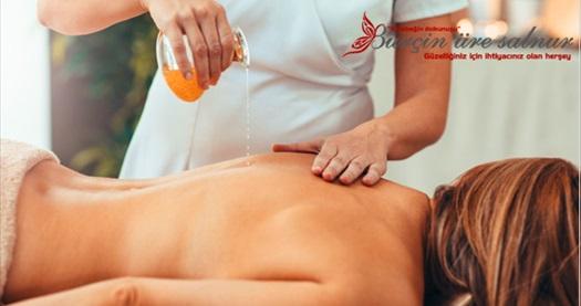 Burçin Üre Salnur Güzellik'te 50 dk Relax masaj uygulaması 180 TL yerine 69 TL! Fırsatın geçerlilik tarihi için DETAYLAR bölümünü inceleyiniz.