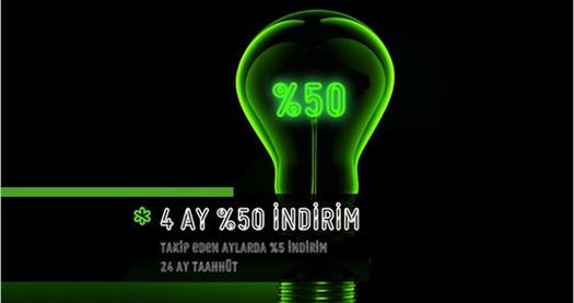 Elektrik faturanızın yarısını 4 ay boyunca 'Tek Elektrik' ödüyor! Ayrıca takip eden 20 ay %5 indirimli! 28 Ekim 2015 tarihlerine kadar geçerlidir. Tek Elektrik Kasım, Aralık, Ocak ve Şubat'ta gelecek elektrik faturalarının yarısını ödeyecektir.