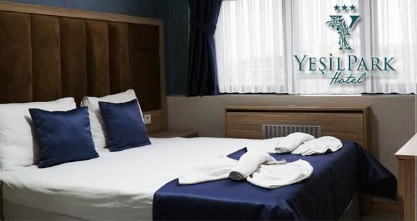 3 yıldızlı Fatih Yeşilpark Hotel'de çift kişilik 1 gece konaklama 450 TL yerine 285 TL! Fırsatın geçerlilik tarihi için DETAYLAR bölümünü inceleyiniz.
