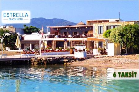 Bodrum Estrella Beach Hotel'de çift kişilik kahvaltı dahil konaklama keyfi 300 TL yerine 199 TL! 31 Ağustos 2014 tarihine kadar, haftanın her günü geçerlidir. Fırsata, standart odada çift kişilik 1 gece konaklama ve kahvaltı dahildir.