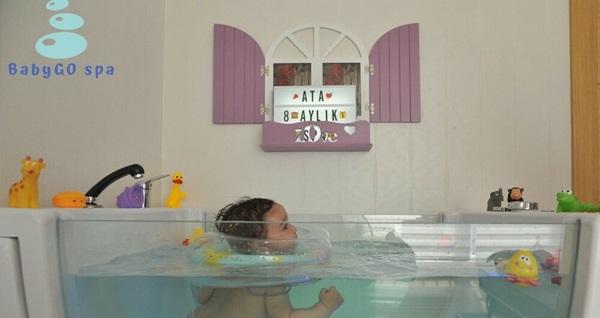 Türkiye'nin ilk VIP (kişiye özel) Bebek Spa Merkezi BabyGo Spa, hidroterapi ve bebek masajı uygulaması 150 TL! Fırsatın geçerlilik tarihi için DETAYLAR bölümünü inceleyiniz.