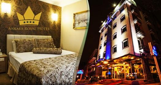 Kavaklıdere Ankara Royal Hotel'de çift kişilik 1 gece açık büfe kahvaltı dahil konaklama 224 TL yerine 159 TL! Fırsatın geçerlilik tarihi için, DETAYLAR bölümünü inceleyiniz. Fırsat özel günlerde geçerli değildir.