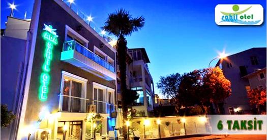 Büyükada Sahil Otel'de kahvaltı dahil çift kişilik 1 gece konaklama keyfi 229 TL yerine 129 TL! Cuma - Cumartesi günleri, Kurban Bayramı ve 29 Ekim HARİÇ: 31 Ekim 2014 tarihlerine kadar geçerlidir. Fırsata, çift kişilik 1 gece konaklama ve kahvaltı dahildir.