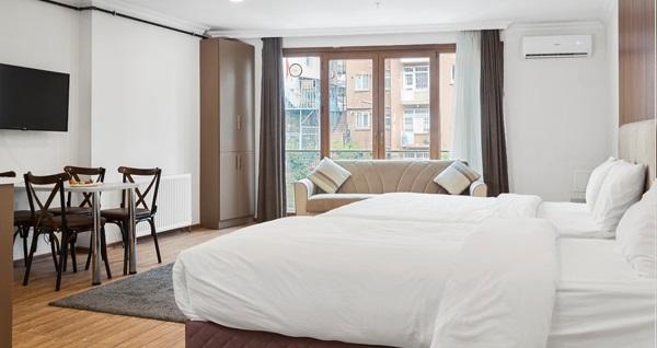 Şişli Modern Suites'te şehrin merkezinde çift kişi 1 gece kahvaltı hariç konaklama 165 TL! Fırsatın geçerlilik tarihi için DETAYLAR bölümünü inceleyiniz.