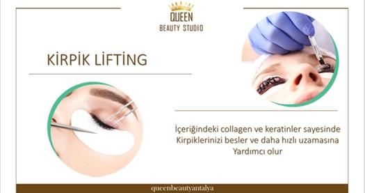 Queen Beauty Studio'da kirpik liftingi 250 TL yerine 59,90 TL! Fırsatın geçerlilik tarihi için DETAYLAR bölümünü inceleyiniz.