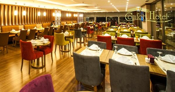 Comfort Otel'de tadına doyamayacağınız leziz iftar menüsü 75 TL! Bu fırsat 6 Mayıs - 3 Haziran 2019 tarihleri arasında, iftar saatinde geçerlidir.