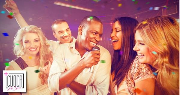 Florya Cuoca Plus'da eğlence zamanı! 1 kişi için giriş, meşrubat eşliğinde Karaoke 35 TL yerine 14,90 TL! Fırsatın geçerlilik tarihi için DETAYLAR bölümünü inceleyiniz.