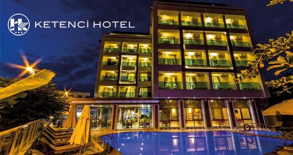 Marmaris Ketenci Hotel'de açık büfe kahvaltı dahil tek veya çift kişilik 1 gece konaklama 149 TL'den başlayan fiyatlarla! Detaylı bilgi ve rezervasyon için 0252 412 63 95 numaralı telefonu arayın!