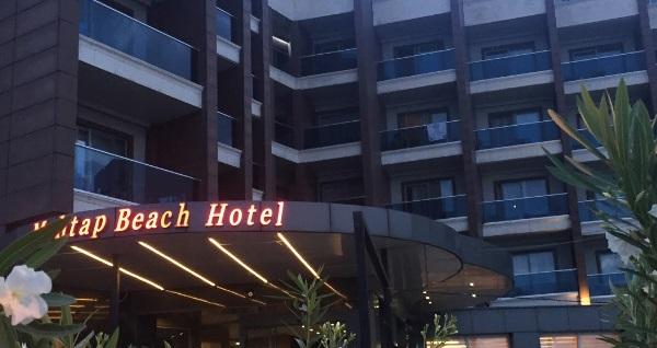 HER ŞEY DAHİL Marmaris Mehtap Beach Hotel'de çift kişilik odalarda kişi başı 3 gece konaklama 713 TL'den başlayan fiyatlarla! Fırsatın geçerlilik tarihi için, DETAYLAR bölümünü inceleyiniz.