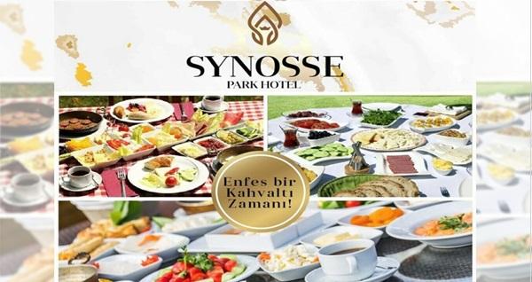 Synosse Park Hotel'de yeşillikler içerisinde enfes serpme kahvaltı keyfi kişi başı 59 TL! Fırsatın geçerlilik tarihi için DETAYLAR bölümünü inceleyiniz.