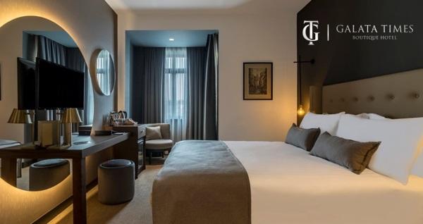 Galata Times Boutique Hotel'de çift kişi 1 gece konaklama!