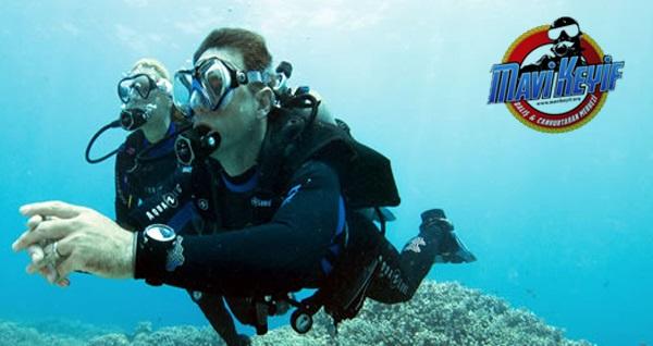 Bursa Mavi Keyif Dalış Merkezi'nde sınırsız içecek eşliğinde özel dalış brifingi, su altı gezisi ve su altı fotoğraf çekimi 150 TL yerine 99,90 TL! Fırsatın geçerlilik tarihi için DETAYLAR bölümünü inceleyiniz.