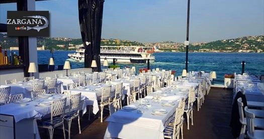 Kuruçeşme Sortie Zargana Blue'da 2 yerli içecek eşliğinde akşam yemeği menüsü 89 TL! 30.9.2016 tarihine kadar haftanın her günü geçerlidir.
