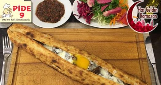 """Kolej Pide 9'da nefis lezzetlerden oluşan gel-al iftar menüsü """"kişi başı"""" 45 TL yerine 29,50 TL! Fırsatın geçerlilik tarihi için DETAYLAR bölümünü inceleyiniz."""
