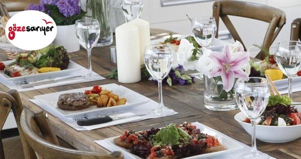 Göze Sarıyer'de Boğaz manzarası eşliğinde 2 kişilik akşam yemeği
