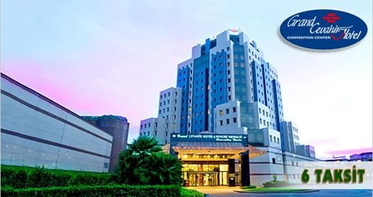 Şişli'de beş yıldızlı konforun adresi Grand Cevahir Hotel'de çift kişilik 1 gece konaklama seçenekleri 159 TL'den başlayan fiyatlarla! Bayram ve özel günler HARİÇ; 29 Aralık 2016 tarihine kadar, Cuma, Cumartesi ve Pazar günleri geçerlidir.